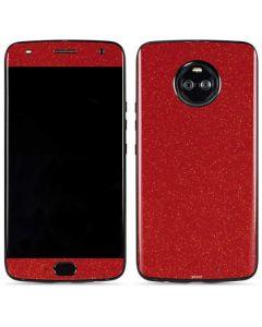 Diamond Red Glitter Moto X4 Skin