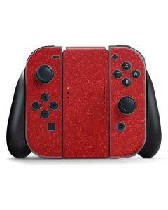 Diamond Red Glitter Nintendo Switch Joy Con Controller Skin