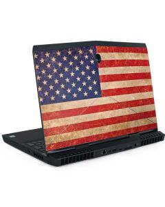 Distressed American Flag Dell Alienware Skin