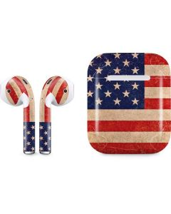Distressed American Flag Apple AirPods Skin