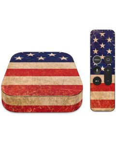 Distressed American Flag Apple TV Skin