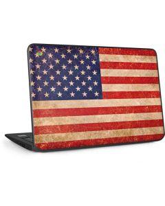 Distressed American Flag HP Chromebook Skin