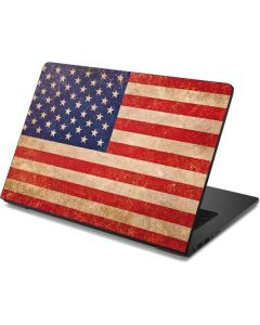 Distressed American Flag Dell Chromebook Skin