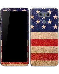 Distressed American Flag LG G6 Skin