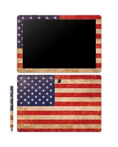 Distressed American Flag Galaxy Book 10.6in Skin