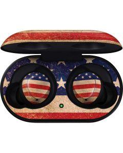 Distressed American Flag Galaxy Buds Skin