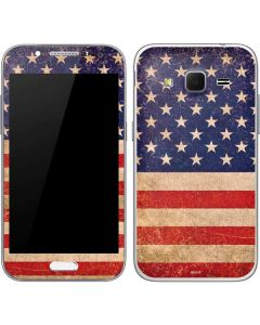 Distressed American Flag Galaxy Core Prime Skin