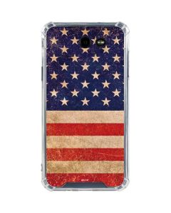 Distressed American Flag Galaxy J7 (2017) Clear Case
