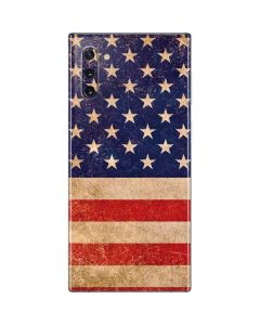 Distressed American Flag Galaxy Note 10 Skin