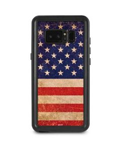 Distressed American Flag Galaxy Note 8 Waterproof Case