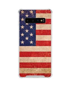 Distressed American Flag Galaxy S10 Clear Case