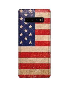 Distressed American Flag Galaxy S10 Plus Skin