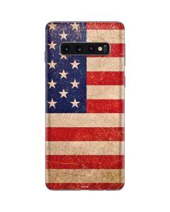 Distressed American Flag Galaxy S10 Skin
