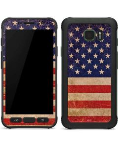 Distressed American Flag Galaxy S7 Active Skin