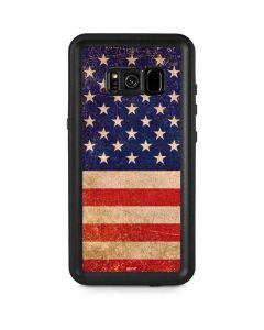 Distressed American Flag Galaxy S8 Plus Waterproof Case