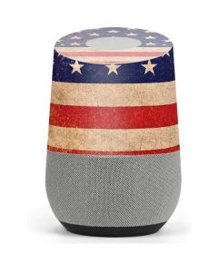Distressed American Flag Google Home Skin