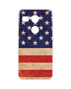Distressed American Flag Google Nexus 5X Clear Case