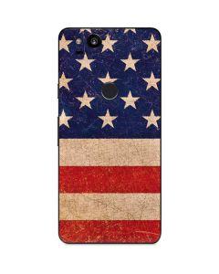 Distressed American Flag Google Pixel 2 Skin