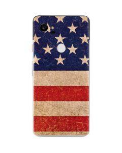 Distressed American Flag Google Pixel 2 XL Skin