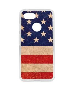 Distressed American Flag Google Pixel 3 Clear Case