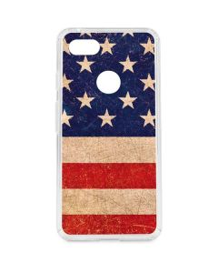 Distressed American Flag Google Pixel 3 XL Clear Case