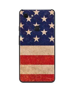 Distressed American Flag Google Pixel 3 XL Skin