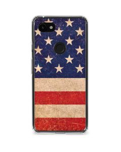 Distressed American Flag Google Pixel 3a Clear Case