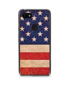 Distressed American Flag Google Pixel 3a XL Clear Case