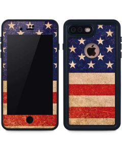 Distressed American Flag iPhone 8 Plus Waterproof Case
