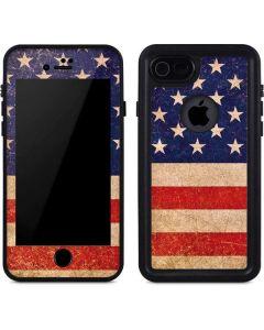 Distressed American Flag iPhone 8 Waterproof Case