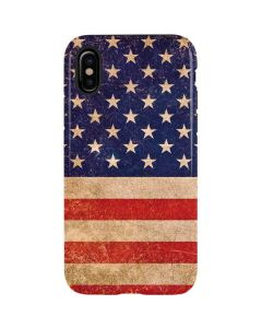 Distressed American Flag iPhone X Pro Case