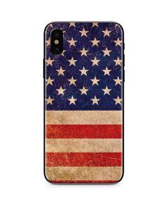 Distressed American Flag iPhone X Skin