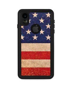 Distressed American Flag iPhone XR Waterproof Case