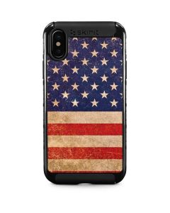Distressed American Flag iPhone XS Cargo Case