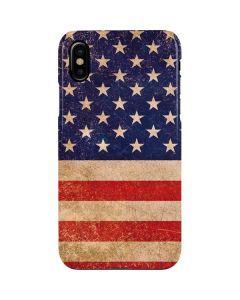 Distressed American Flag iPhone XS Lite Case