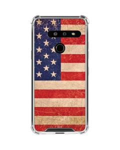 Distressed American Flag LG G8 ThinQ Clear Case