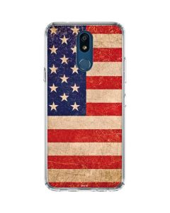 Distressed American Flag LG K30 Clear Case