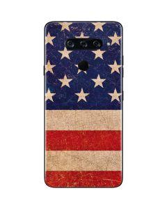 Distressed American Flag LG V40 ThinQ Skin