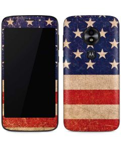 Distressed American Flag Moto E5 Play Skin