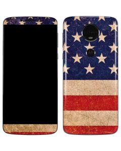 Distressed American Flag Moto E5 Plus Skin