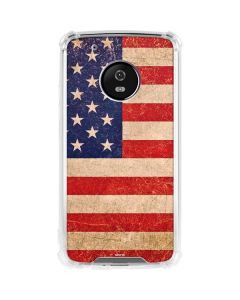 Distressed American Flag Moto G5 Plus Clear Case