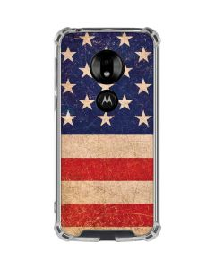 Distressed American Flag Moto G7 Play Clear Case