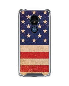 Distressed American Flag Moto G7 Power Clear Case