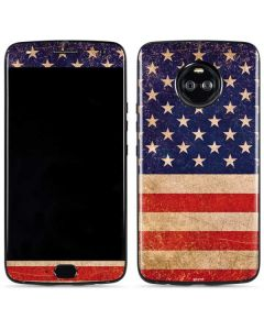 Distressed American Flag Moto X4 Skin
