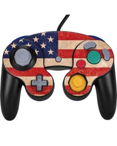 Distressed American Flag Nintendo GameCube Controller Skin
