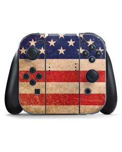 Distressed American Flag Nintendo Switch Joy Con Controller Skin