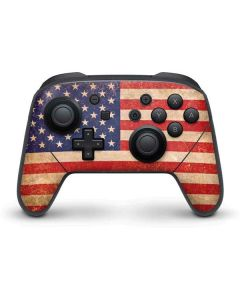 Distressed American Flag Nintendo Switch Pro Controller Skin