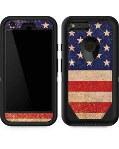 Distressed American Flag Otterbox Defender Pixel Skin