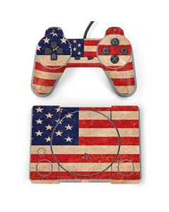 Distressed American Flag PlayStation Classic Bundle Skin