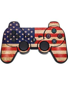 Distressed American Flag PS3 Dual Shock wireless controller Skin